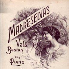 Partituras musicales: LUIS ROMO DORADO : MADRESELVAS - VALS BOSTON (ALIER, S. F.). Lote 245948155