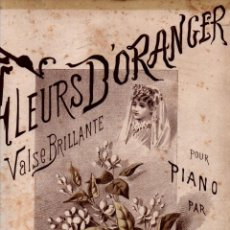 Partituras musicales: LUDOVIC : FLEURS D' ORANGER - VALS PARA PIANO (SCHOTT, S. F.). Lote 245948670