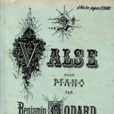 Partituras musicales: BENJAMIN GODARD : 2EME VALS PARA PIANO (DURAND, S. F.). Lote 245949060