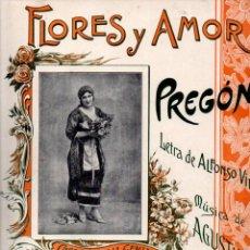 Partituras musicales: VIDAL Y ORIOL : FLORES Y AMOR (MUSICAL EMPORIUM, S. F.) ZAZÁ. Lote 245952255