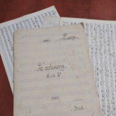 Partituras musicales: PARTITURAS ORIGINALES , FRANCISCO JUNIO ,RONDA 1921.. Lote 246313780