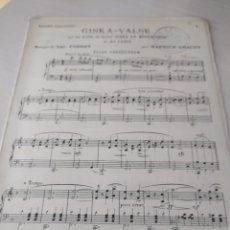 Partituras musicales: GISKA-VALSE, DE M. GRACEY (PARTITURA ANTIGUA) 1908. Lote 246494890
