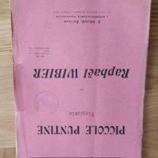 Partituras musicales: PICCOLE PUNTINE (PIZZICATO), DE R. WIBIER (PARTITURA ANTIGUA). Lote 246646325