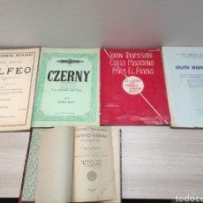 Partituras musicales: LOTE PARTITURAS LIBROS MUSICALES. SOLFEO, CZERNY, JOHN THOMPSON, SOLFEO MANUSCRITO, CANTO. Lote 247461015