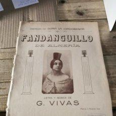 Partiture musicali: DORA LA CORDOBECITA. FANDANGUILLO DE ALMERIA.EDITA: FAUSTINO FUENTES.MADRID ( PARTITURA ).. Lote 248133135