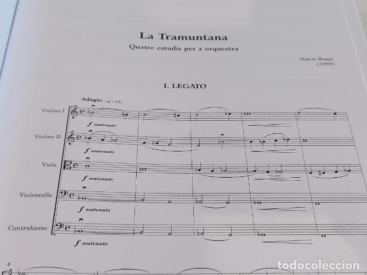 Partituras musicales: JOVES ORQUESTRES 4 / LA TRAMUNTANA / NARCÍS BONET / ED: DINSIC-2007 / NUEVO. - Foto 3 - 251945570