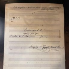 Partituras musicais: PARTITURA MANUSCRITA DEL CONOCIDO COMPOSITOR EUSEBIO BOSCH HUMET MED.: 30,5X21,5 CMS. (T1). Lote 254678805