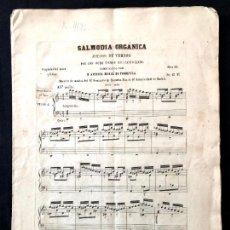 Partituras musicales: SALMODIA ORGÁNICA. ANTONIO MERCÉ FONDEVILA. JUEGOS DE VERSOS SÓLO 4 PRIMEROS TONOS. [1856]. Lote 260270420