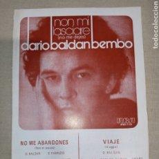 Partituras musicales: RCA DARIO BALDAN BEMBO. Lote 261365935