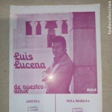 Partituras musicales: RCA LUIS LUCENA. Lote 261469640