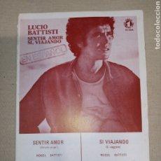 Partiture musicali: RCA LUCIO BATTISTI. Lote 261497735