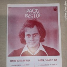 Partituras musicales: RCA PACO PASTOR. Lote 261518175