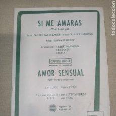 Partituras musicales: HAMMOND MISSIEGO SERIE COMPATIBLE. Lote 261523630