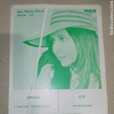 Partituras musicales: RCA ANA MARIA DRACK. Lote 261525935