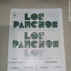 Partituras musicales: RCA LOS PANCHOS. Lote 261535545