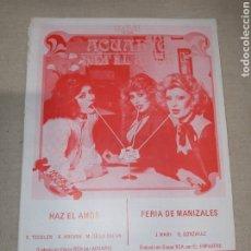 Partiture musicali: RCA ACUARIO. Lote 261608735