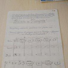 Partituras musicales: PARTITURA MANUSCRITA DE MANUEL IGLESIAS DOMINGUEZ AL ALCALDE DE MONFORTE DE LEMOS GUILLERMO F. OTERO. Lote 263537535