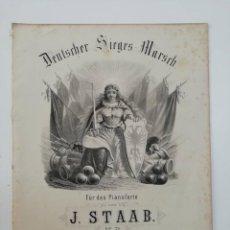 Partituras musicales: DEUTSCHER SIEGES MARSCH, J. STAAB, PARTITURA 3 PÁGINAS. Lote 269095753
