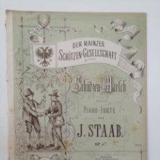Partituras musicales: DER MAINZER SCHÜTZEN-GESELLSCHAFT, J. STAAB, PARTITURA 3 PÁGINAS. Lote 269095758