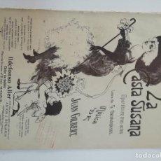 Partituras musicales: LA CASTA SUSANA, JUAN GILBERT, PARTITURA 8 PÁGINAS. Lote 269095773