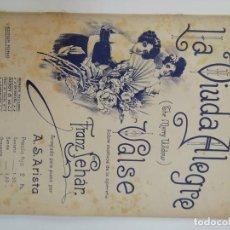 Partituras musicales: LA VIUDA ALEGRE, FRANZ LEHÁR, PARTITURA 7 PÁGINAS. Lote 269095778