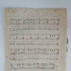 Partituras musicales: EL TAMBOR MAYOR, HABANERA, FEDERICO JAQUES, JULIÁN ROMEA, PARTITURA 4 PÁGINAS. Lote 269095833