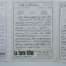 Partituras musicales: 6 PÁGINAS DE PARTITURAS. LAS DE LAS IMÁGENES. Lote 269095878