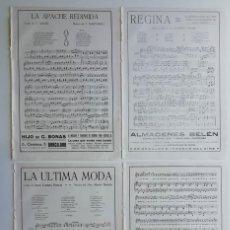 Partituras musicales: 8 PÁGINAS DE PARTITURAS. LAS DE LAS IMÁGENES. Lote 269095888