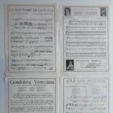 Partituras musicales: 8 PÁGINAS DE PARTITURAS. LAS DE LAS IMÁGENES. Lote 269095893