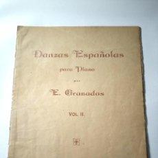 Partituras musicales: DANZAS ESPAÑOLAS PARA PIANO POR E. GRANADOS VOL. II.. Lote 272160043