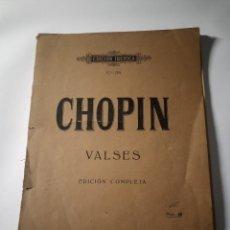 Partituras musicales: PARTITURA PARA PIANO CHOPIN VALSES • EDICIÓN COMPLETA • EDICIÓN IBÉRICA N°35 • EDITORIAL BOILEAU. Lote 272160418
