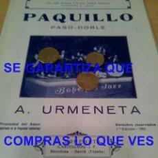 Partitions Musicales: A URMENETA PAQUILLO ARCHIVO PERE PUIG PARES PARTITURA ANTIGUA P16. Lote 274017733