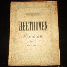 Partiture musicali: BEETHOVEN. SONATAS PARA PIANOFORTE VOLUMEN I. EDITADO POR AUGENER´S EN 1903.. Lote 275933208