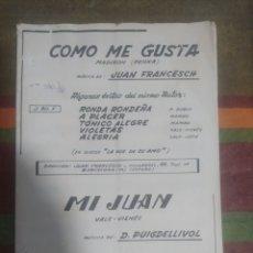 Partituras musicales: PARTITURA DE MÚSICA ANTIGUA. Lote 277060743