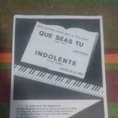 Partituras musicales: PARTITURA DE MÚSICA ANTIGUA. Lote 277061158