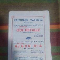 Partituras musicales: PARTITURA DE MÚSICA ANTIGUA. Lote 277061368