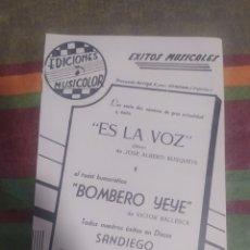 Partituras musicales: PARTITURA DE MÚSICA ANTIGUA. Lote 277061673