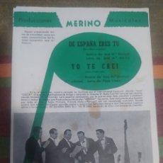 Partituras musicales: PARTITURA DE MÚSICA ANTIGUA. Lote 277061828