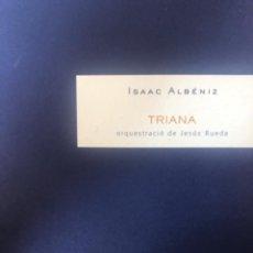 "Partituras musicales: ISAAC ALBÉNIZ/JESÚS RUEDA, ""TRIANA"". Lote 278224018"