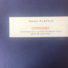 "Partituras musicales: ISAAC ALBÉNIZ, ""CÓRDOBA"", PARA GUITARRA. Lote 278227818"