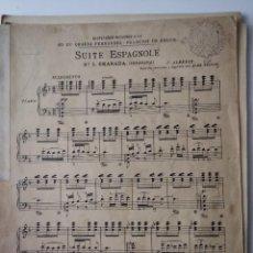 Partituras musicales: ISAAC ALBÉNIZ - SUITE ESPAGNOLE - UNIÓN MUSICAL ESPAÑOLA. Lote 280140648