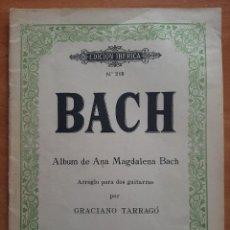 Partitions Musicales: 1960 PARTITURA DE BACH - ALBUM DE ANA MAGDALENA BACH. Lote 284751863