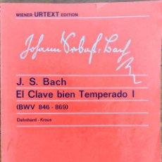 Partituras musicais: J. S. BACH. EL CLAVE BIEN TEMPERADO I.- URTEXT EDITION. REAL MUSICAL. Lote 285693903