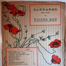 "Partituras musicales: 1926 SARDANES VICENS BOU ""ANGELINA"" I ""FESTAMAJONERA"" - MUSICAL EMPORIUM, BARCELONA. Lote 286661978"