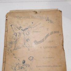 Partituras musicales: ANTIGUO BLOC DE PARTITURAS MUSICALES SUITE PASTOR ALE MATINEE DAN'S LES BOIS -PAUL LACOMBE 1887. Lote 287154908