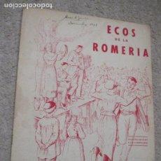 Partitions Musicales: ECOS DE LA ROMERÍA, POPURRI DE JOTAS POPULARES DEL PAÍS VASCO, POR ENRIQUE DE EGUÍA, JOSÉ ARRUE 1945. Lote 288345858