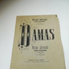 Partitions Musicales: PARTITURA. MÉTODO ABREVIADO PARA GUITARRA. DAMAS. ESLAVA EDITOR. 11 PÁGINAS. VER. Lote 288439168