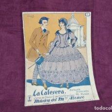 Partiture musicali: ANTIGUA PUBLICACIÓN CON PARTITURAS, LA CALESERA, E. G. DEL CASTILLO Y M. ROMÁN, 1926. Lote 293359353
