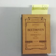 Partituras musicales: BEETHOVEN - SINFONÍAS Nº2 OP. 125 Y Nº9 RE BEMOL CORAL - PARTITURAS - EULKENBURG LEIPZIG. Lote 293761233
