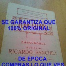 Partituras musicales: RICARDO SANCHEZ FLOR GITANA PARTITURA ARCHIVO PERE PUIG PARÉS P20. Lote 295885998
